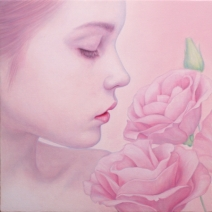 Pink Lisianthus(핑크 리시안셔스)_25X25cm_oil on canvas_2018